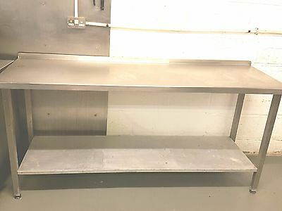 Commercial Stainless Steel Preparation Table 2 Shelfs 6x2ft