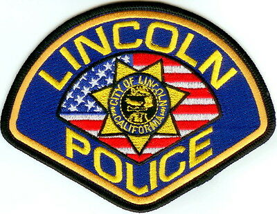 Lincoln Police Patch California CA NEW!!