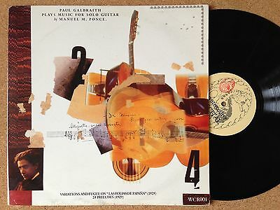 WCR001 Paul Galbraith Plays Music For Solo Guitar By Manuel M. Ponce-WATERCOURSE