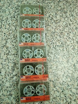 Eagle C-15 Reel To Reel Spool Style Audio Cassette Tapes X6 . Rear