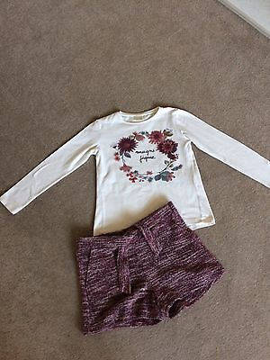 Girls Zara Top And Shorts Set Age 9-10