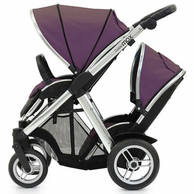 Oyster Max Stroller/Pram w/ Tandem Seat for 2 Kids Baby/Infant/Toddler Purple