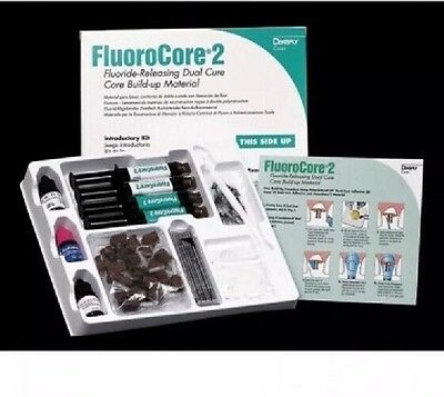 Dentsply FluoroCore 2+ Dual Cure, Core Build-Up Material Kit Expired 2014 +s/h
