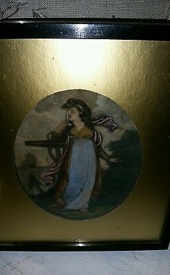 Stunning 19thC Hand tinted lithograph of 'Hope'  Framed & oval gold mount