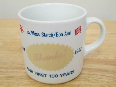 Faultless Starch Bon Ami 1887-1987 100 Years Thanks Coffee Mug Cup Made in Japan