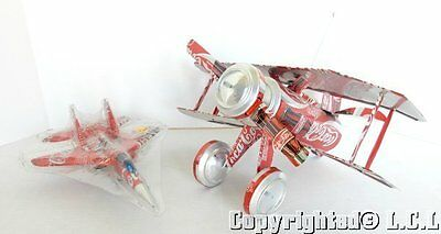 Coca-Cola Coke Cans Airplane Jet Fighter EAA Aluminum Model Aircraft Flier Art