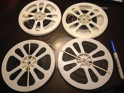 """4 7"""" 8mm movie reels 40s and 50s Detroit MI area"""