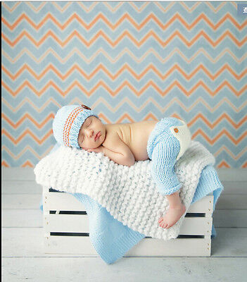 NEW Crochet Baby Cap Bow Diaper Costume Newborn Knitted Photography 0-6 #09