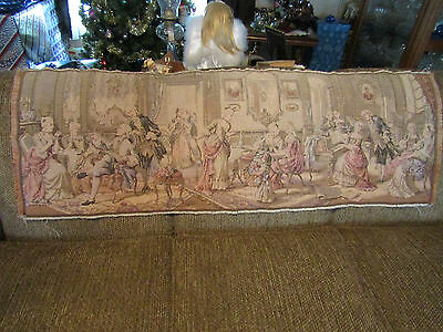 "Antique Tapestry Belgium Belgian French Renaissance 19""X54"""