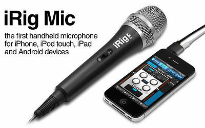 Ik Multimedia Irig Mic for iOS and Android OS /Free Mic Adapter /WindScreen