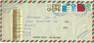 Mexico Stamps: Registered Exporta  Cover Jalisco  to Beloit, Wisc., USA