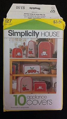 Vintage Simplicity HOUSE Sewing Pattern 127 Appliance Covers Cozies UNCUT 1983