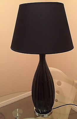 Lamp - Large Table Black With Chrome