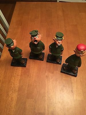 1960s Vintage Beetle Bailey Comic King Feature Syndicate Bobblehead Dolls Nodder