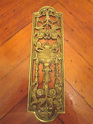 Vintage Decorative Solid Brass Finger Door Plate Victorian Style