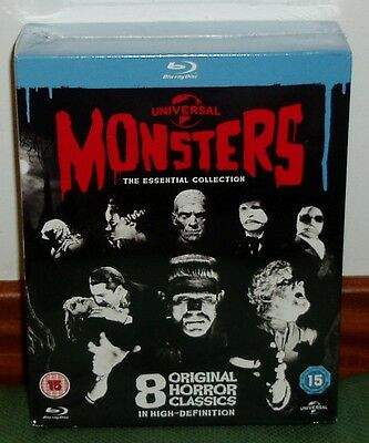 Universal Monsters Coleccion Monstruos 8 Blu-Ray Nuevo Precintado Terror R2