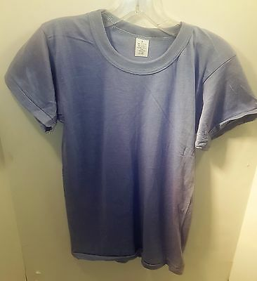 Vintage 1970' Super Thin Blue Blank T-shirt (DEADSTOCK) Size Small