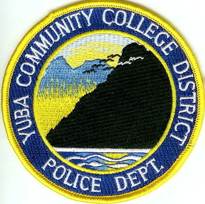 Yuba Community College District Police Dept Police Patch California CA NEW!