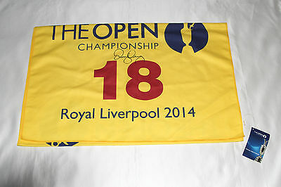 Rory McIlroy Signed 2014 Open Championship Royal Liverpool Golf Towel with COA