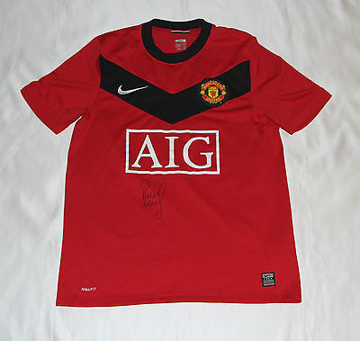 Paul Scholes Signed Manchester United Football Club Shirt with COA