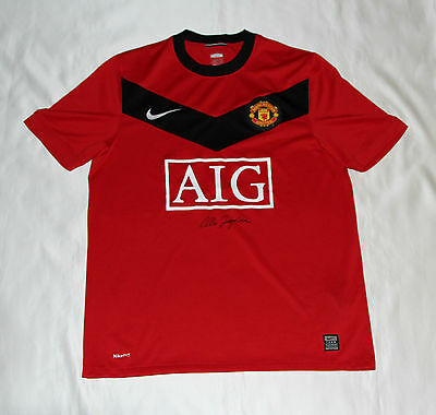 Alex Ferguson Signed Manchester United Football Club Shirt with COA