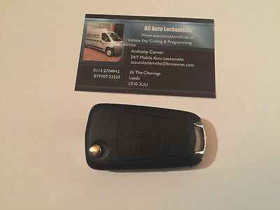 GENUINE NEW VAUXHALL ASTRA H 2 BUTTON FLIP REMOTE KEY 433mhz