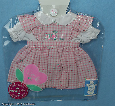 """Corolle Bunny Dress Outfit  for 14""""-16""""  Baby New in Package"""