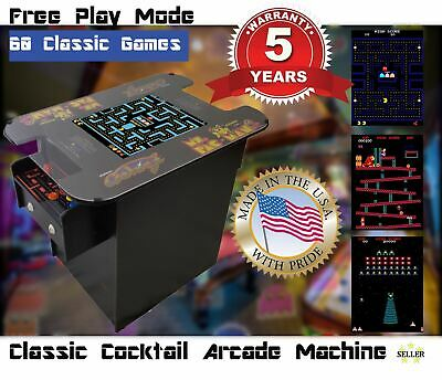 Cocktail Arcade Machine With 60 Classic Games- Pac-Man, Galaga, Donkey Kong