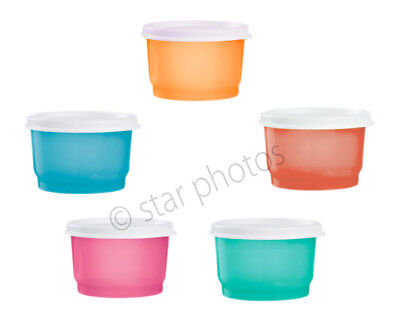 Tupperware Snack Cups - Perfect Small Storage Containers - Set of 5 - New!