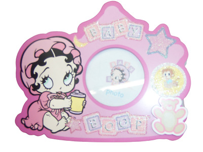 Licensed Pink BABY BETTY BOOP SIPPY CUP WOOD PHOTO Picture Photograph FRAME NEW!