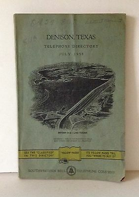 1958 Denison, Texas Telephone Directory Vintage Ads Yellow Pages