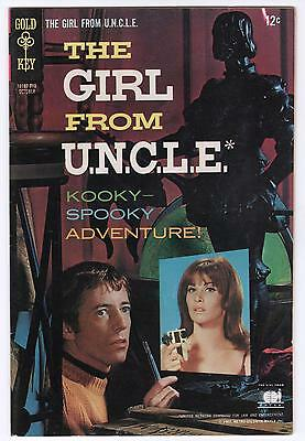 OCT 1967 #5 GIRL from UNCLE GOLD KEY COMIC BOOK - VF!!!!!