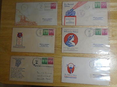 Lot Of 18 Patriotic And Navy Stamped World War Ii Covers