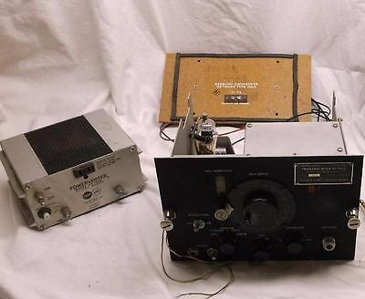 Signal Corps Tube Frequency Meter Seeburg Crossover Power Inverter Powerverter