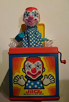 Vintage Mattel 1976 Jack in the Music Box