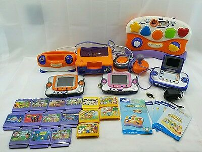 Huge Lot Of Vtech Learning Systems And Games...please See Pics