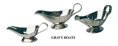 Lot of 12 Gravy Boat - 10 oz Stainless Steel Smallwares