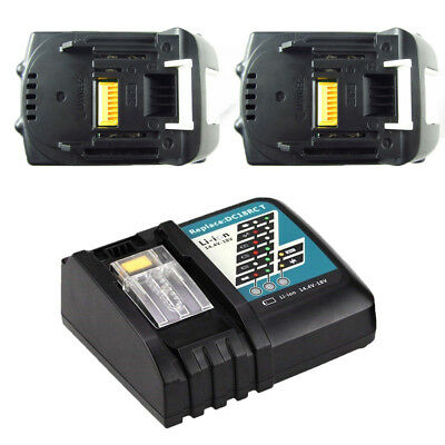 2x 6.0AH 18V Battery for Makita BL1860 BL1840 BL1830 BL1815 LXT400+Rapid Charger