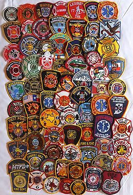 72 mixed USA Fire Departments Firefighter patches NEW!!