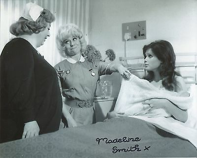 Carry On Matron comedy photo signed by Madeline Smith