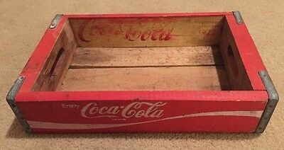 Vintage Coca Cola 24 Bottle Carrier Crate Wooden Wood Red White 1977 Chattanooga