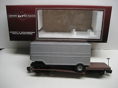 Bachmann  'G' Flat car with Closed Trailer  with steel wheels