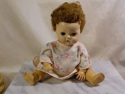 """Vintage American Character Doll Tiny Tears 12"""" - Damage"""