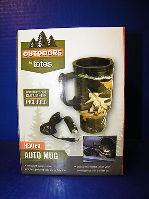 Fall Hunting Camo Coffee Mug Travel Cup Heated Outdoors by Totes Auto Plastic