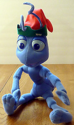 Pair of plush from Disney's A Bug's Life - Flik and Heimlich – Christmas 1998