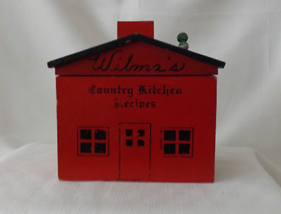 vintage WILMA 's COUNTRY KITCHEN Wooden Recipe Box