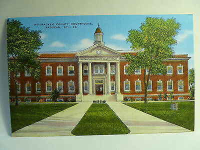 Old Postcard KY Paducah McCracken County Court House