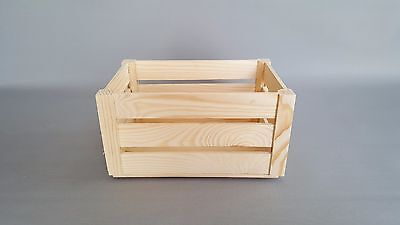 1x Wooden Crate Box Plain Wood Storage Boxes Chest Small Craft Decoupage
