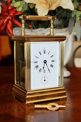 Antique Brass Carriage Clock Repeater With Alarm