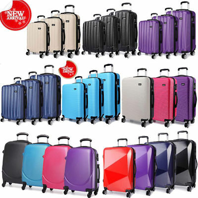 KONO Travel Suitcase Hard shell Luggage Trolley Case 4 Wheel Spinner PC/ABS